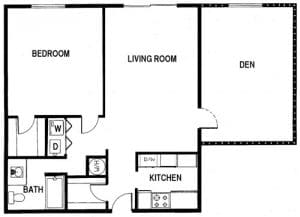 1 Bed / 1 Bath / 1,125 sq ft / Availability: Not Available / Deposit: $1,000