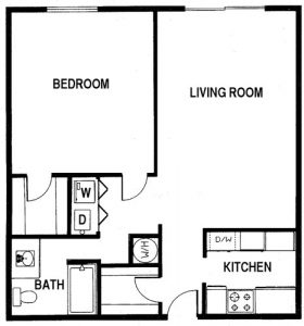 1 Bed / 1 Bath / 850 sq ft / Deposit: $1,000 / Rent: Please Call